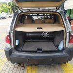 υγραεριοκίνηση σε BMW X3 με σύστημα LOVATO C-OBD II-χώρος αποσκευών