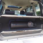 Υγραεριοκίνηση σε Mitsubishi Pajero - Δεξαμενή υγραερίου και χώρος αποσκευών