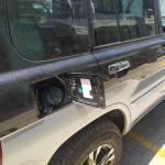 Υγραεριοκίνηση σε Mitsubishi Pajero - Σημείο πλήρωσης υγραερίου